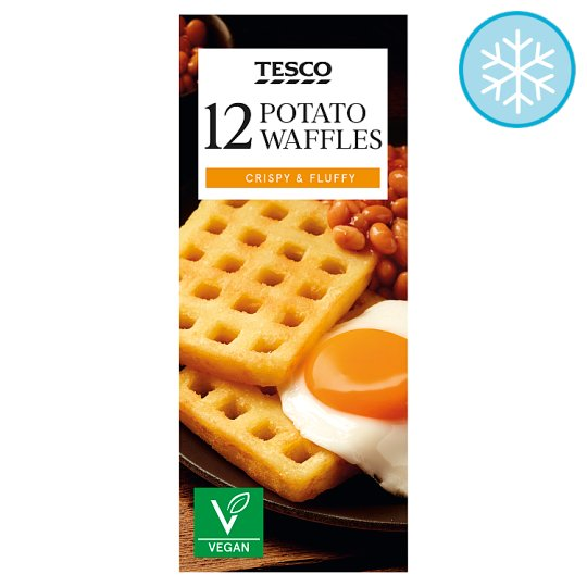 Tesco 12 Potato Waffles 680G