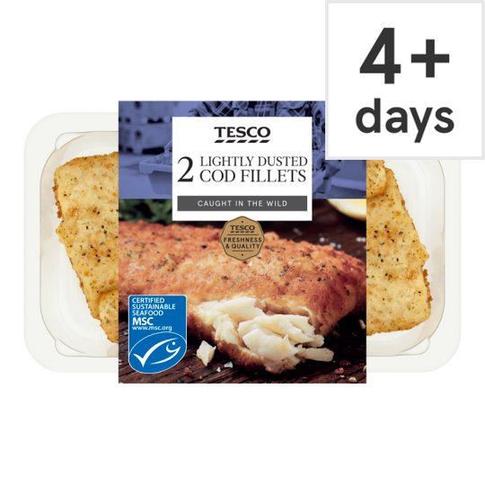 image 1 of Tesco Lightly Dusted Cod Fillets 255G
