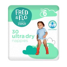 Fred & Flo 30 Ultra Dry Nappies Size 6