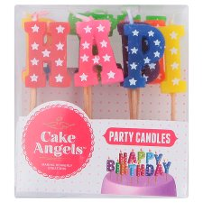 Plastic Christmas Cake Decorations Tesco : Fiddes Payne Happy Birthday Candles 13 Each - Groceries ...