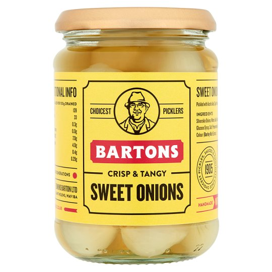 Bartons Sweet Pickled Onions 340G