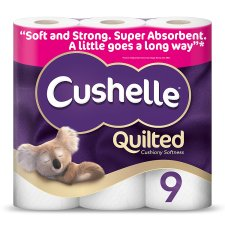 Cushelle Ultra Quilted Toilet Tissue 9 Roll 3 Ply