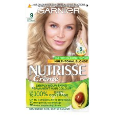 image 1 of Garnier Nutrisse 9 Light Blonde Permanent Hair Dye