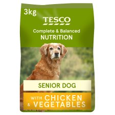 Tesco Chicken Senior Dry Dog Food 3Kg