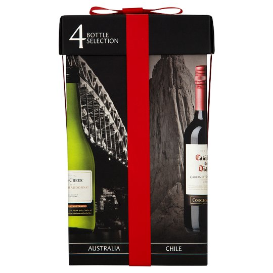 Wines Of The World Gift Pack 4 X 187.5Ml