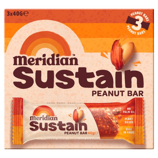 Meridian Peanut Bar 3 Pack 120G