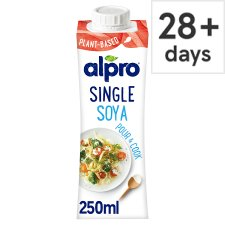 Alpro Single Soya Uht Soya Alternative To Cream 250 Ml
