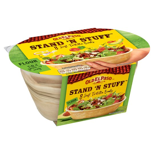 image 1 of Old El Paso Stand 'N' Stuff Soft Flour Tortillas 8Pk 193G
