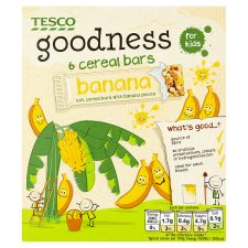 Tesco Goodness Banana Cereal Bar 6X21g