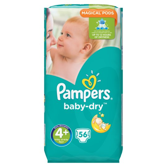 Pampers Baby Dry Size 4+ Large Pack 56 Nappies