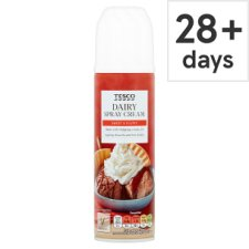 Tesco Real Dairy Spray Cream 250G