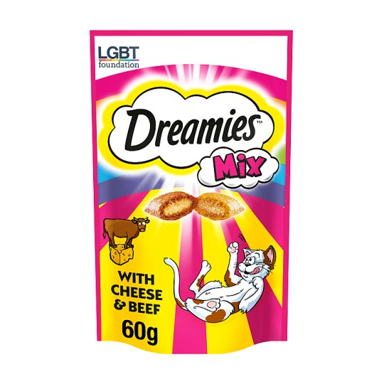 Dreamies Mix Beef And Cheese 60G