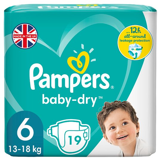 Pampers Baby Dry Size 6 Carry Pack 19 Nappies