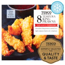 Tesco 8 Tempura King Prawns 140G