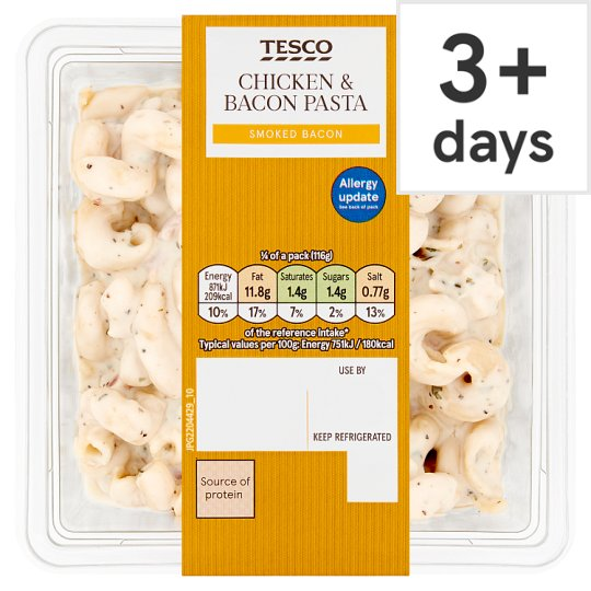 Tesco Chicken And Bacon Pasta Salad 465G