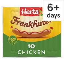 image 1 of Herta Chicken Frankfurter Hot Dogs 10 Pack 350G