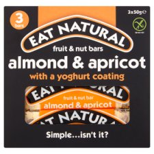 Eat Natural Yogurt Almond & Apricot Bars 3X50g