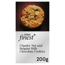 Tesco Finest Chunky Nut And Belgian Chocolate Cookie 200G