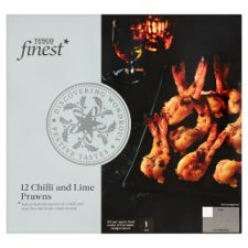 Tesco Finest 12 Chilli And Lime Prawns 156G