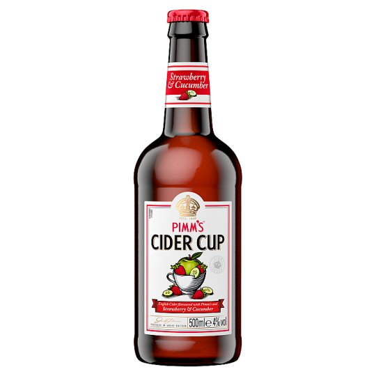 image 1 of Pimm's Strawberry And Cucumber Cider 500Ml