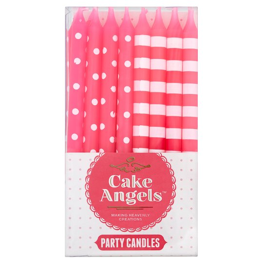 Plastic Christmas Cake Decorations Tesco : Cake Angels Spots And Stripes Party Candles - Groceries ...