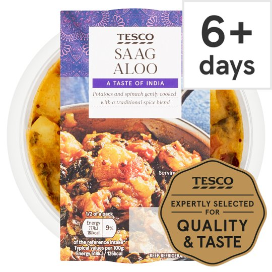 Tesco Indian Saag Aloo 300G