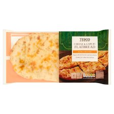 Tesco Cheese And Garlic Flatbread 220G