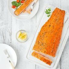 image 1 of Tesco Easy Entertaining Hot Smoked Salmon 1Kg Serves 6-8