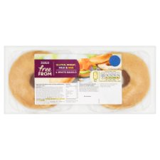 Tesco 4 Free From White Bagels 240G
