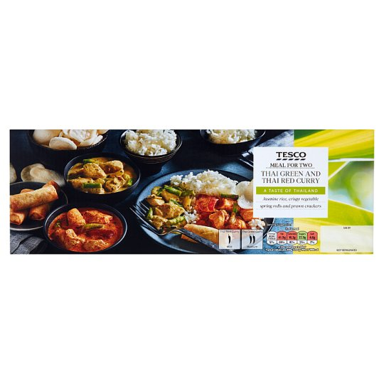 Tesco Thai Green And Red Curry Meal Box 1.225Kg
