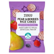 Tesco Pear And Berries Rice Cakes 40G