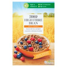 Tesco High Fibre Bran Cereal 750G