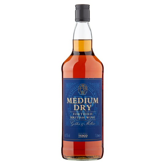 Tesco Medium Dry Fortified British Wine 1L