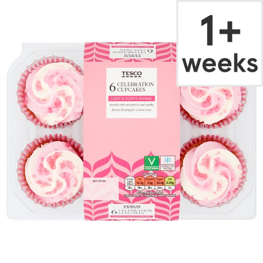 Tesco 6 Celebration Cupcakes 6 Pack