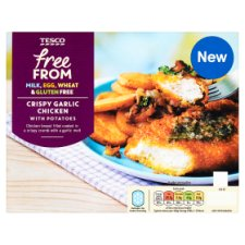 Tesco Free From Crispy Garlic Potato 350G