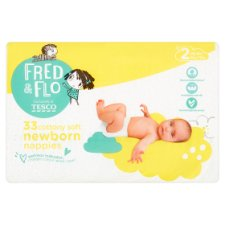 Fred & Flo Newborn Nappy Size 2 33 Pack