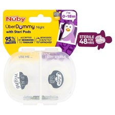 Nuby Night Twinpack Soother Plus Sterilisation Box
