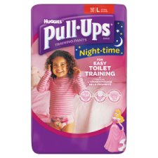 Huggies Pull Ups Night Time Girls Large 12 Pack
