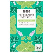 Tesco Peppermint 20 Tea Bags 30G