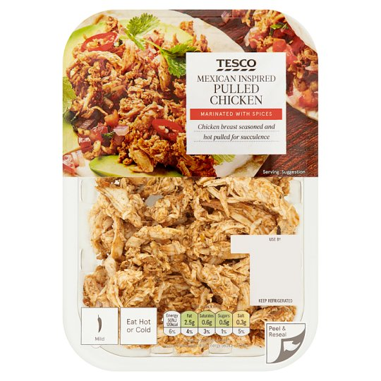 Tesco Mexican Inspired Pulled Chicken 180G
