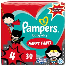 Baby Dry Dc Heroes Nappy Pants Size 4 30 Pack