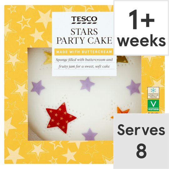 Tesco Stars Party Cake