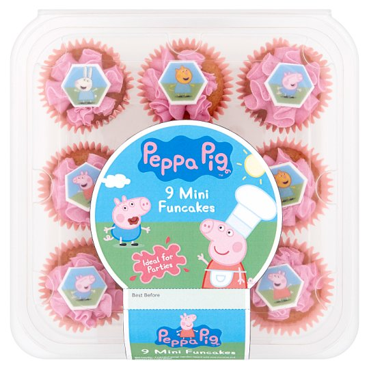 Peppa Pig Mini Fun Cakes 9pk Tesco Groceries
