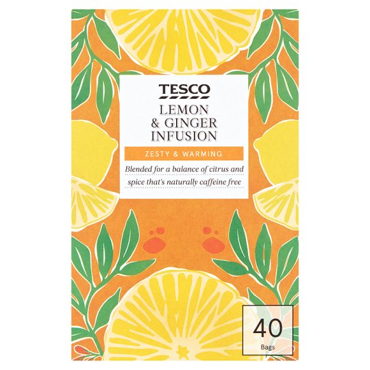 Tesco Lemon And Ginger Tea Bags 40S 80G