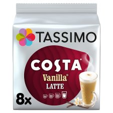 image 1 of Tassimo Costa Vanilla Latte 8 Coffee Pods