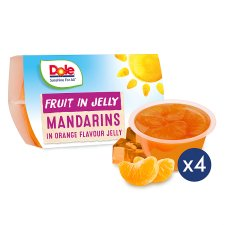 Dole Fruit Mandarins In Orange Jelly 4X123g