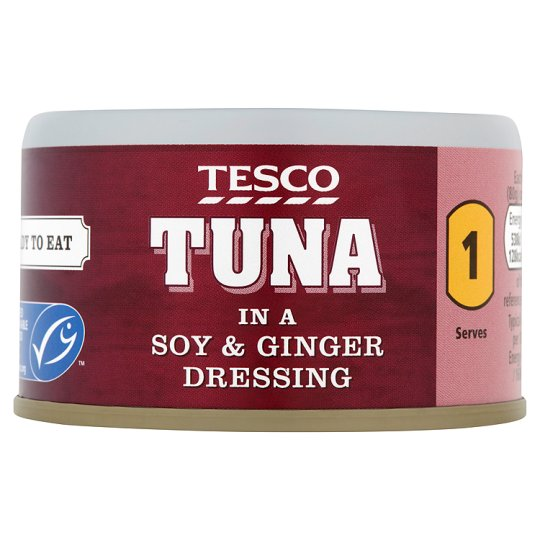 Tesco Tuna Soy And Ginger 80G