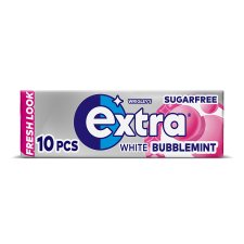 Extra White Bubblemint Gum 10 Pieces