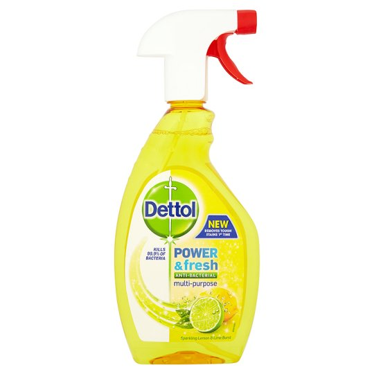 Dettol Power And Fresh Spray Cleaner Lemon 500 Ml