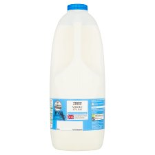 Tesco British Whole Milk 2.272L, 4 Pints